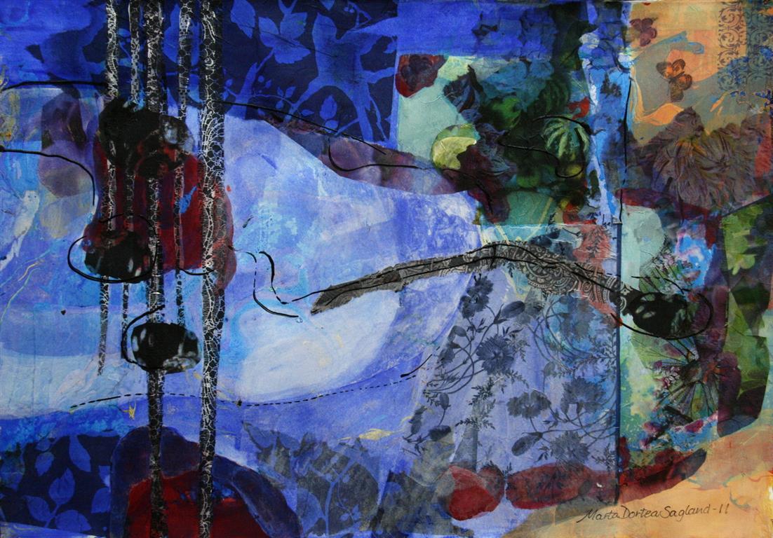 Submarin Collage (32x46 cm) kr 5400 ur