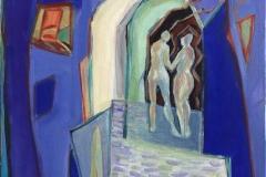 Vandre saman Akrylmaleri (60x50 cm) kr 7000 ur