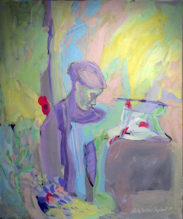 A vera i livet Akrylmaleri 60x50 cm kr 6500 ur