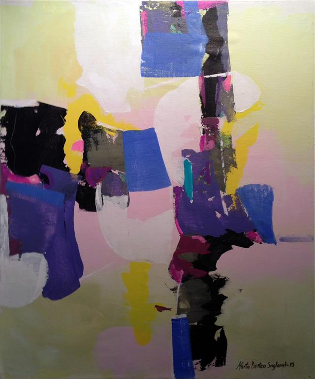 Abstrakt poesi Akrylmaleri 60x50 cm kr 6000 ur