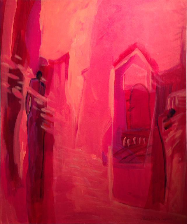 Eg kjem no Akrylmaleri 60x50 cm kr 6500 ur