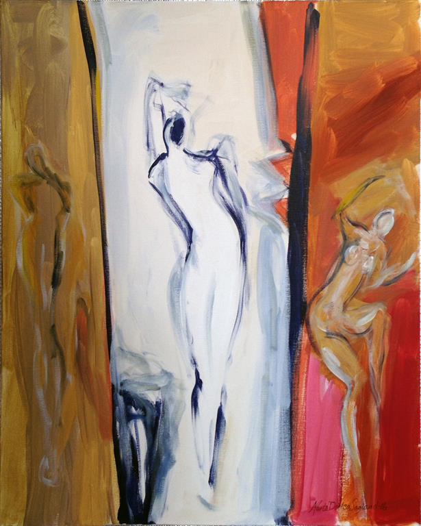 Grasios og vill Akrylmaleri 60x50 cm kr 6000 ur