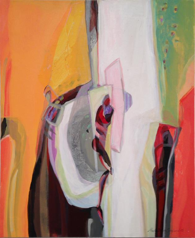 Kom lys og varme Akrylmaleri 60x50 cm kr 7000 ur