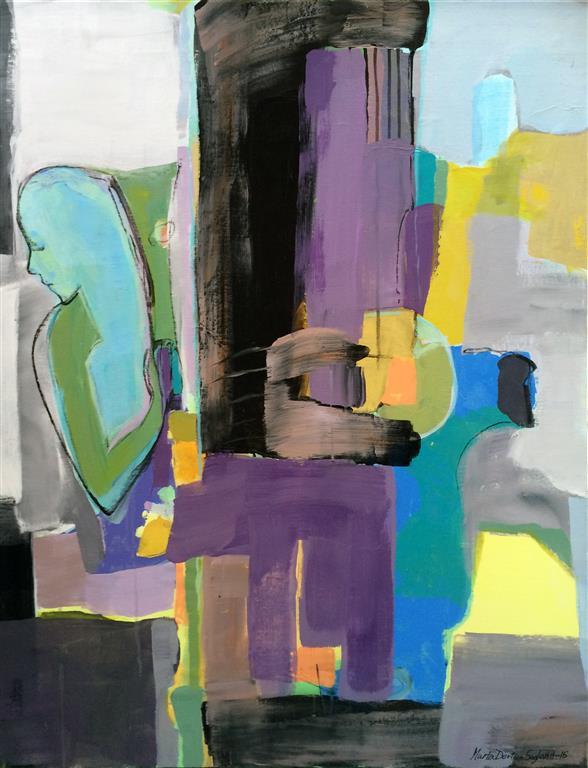 Lyrisk abstraksjon II Akrylmaleri 100x80 cm kr 13500 ur