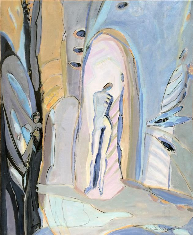 Natt og dag Akrylmaleri 60x50 cm kr 6500 ur