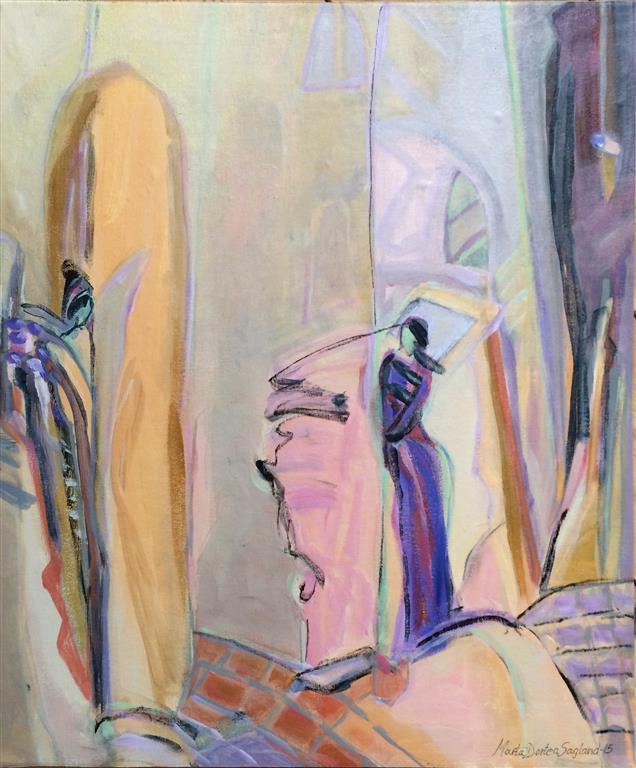 Solitude Akrylmaleri 60x50 cm kr 6500 ur