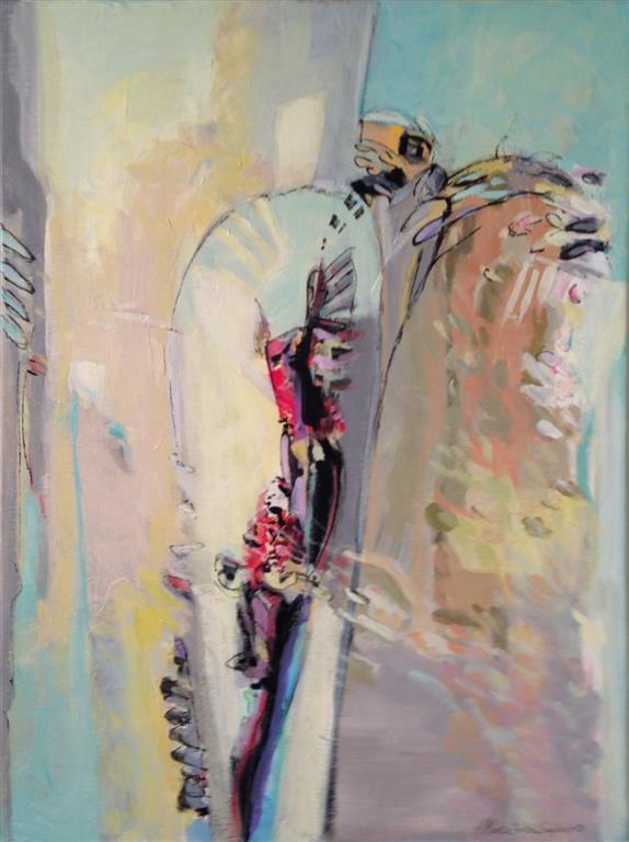 Til varen Akrylmaleri 80x60 cm kr 9500 ur