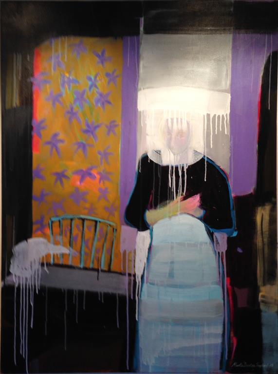 Var tid Akrylmaleri 120x90 cm kr 18000 ur