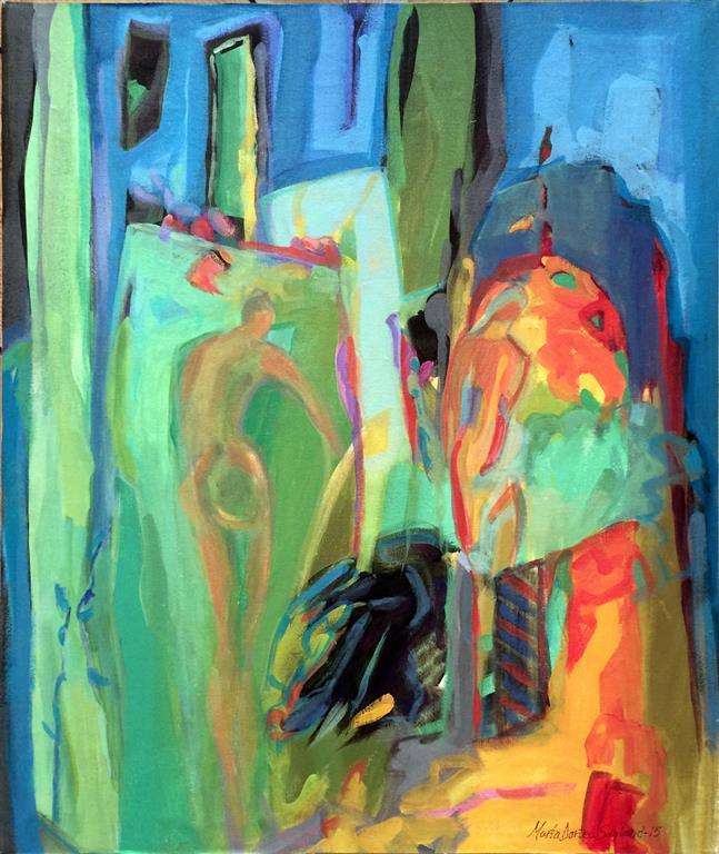 Ver du et bal Akrylmaleri 60x50 cm kr 6000 ur