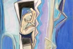 Hold meg Akrylmaleri 60x50 cm kr 6500 ur
