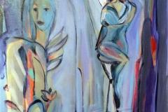Kom i min favn Akrylmaleri 60x50 cm kr 6500 ur