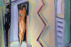 Kom ut kom fram Akrylmaleri 60x50 cm kr 6500 ur