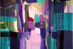 Lys og morke Akrylmaleri 100x80 cm kr 14000 ur