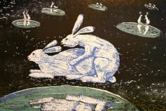 Vinterharer om vaaren Litografi 35x55,5 cm 3000 ur