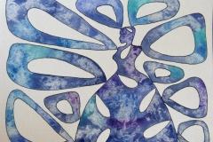 Biomyth lady blue Akvarell (23x30 cm) kr 5000 ur