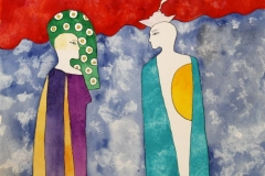 Biomyth pair I Akvarell (30x30 cm) kr 6000 ur