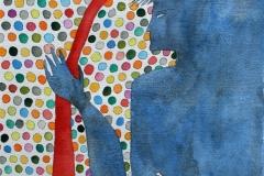 Blue people Akvarell (31x27 cm) kr 6000 ur