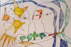 Home sweet home II Akvarell (23x30 cm) kr 5000 ur