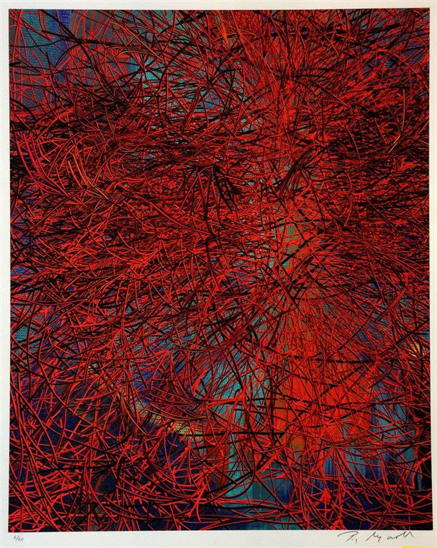 Red Wires in SunSet Digigrafikk (53x43 cm) kr 5000 ur