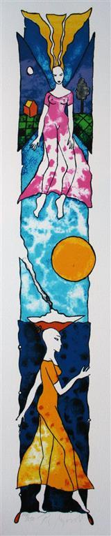 Mellom hav og himmel Litografi (55x10 cm) kr 3000 ur