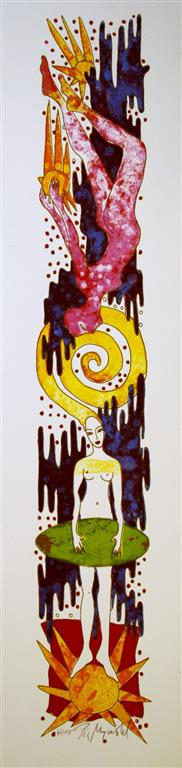 Stary night Litografi (55x10 cm) kr 3000 ur