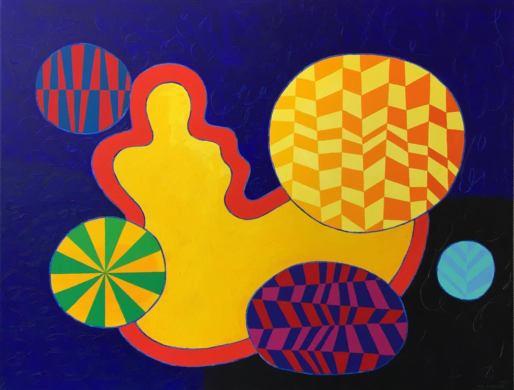 Yellow Venus Akrylmaleri (89x116 cm) kr 42000 ur