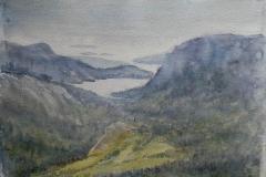 Fra Dalsnuten Akvarell 28x38cm 3000,-u.r