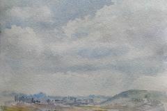 Fra Jaermuseet III Akvarell 27x26,5cm 2000,-u.r