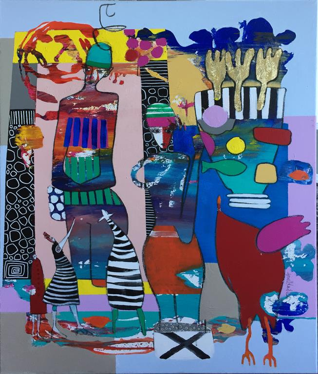 When Art is Akryl på lerret (100x80 cm) kr 10000 ur