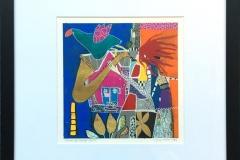 Tonene har mange farger Akryl på papir (27x27 cm) kr 3900 mr