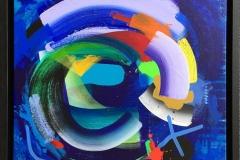 Twist and turn Akrylmaleri (40x40 cm) kr 5500 mr