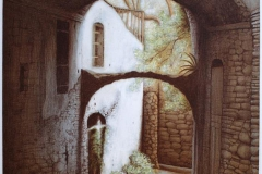 Arco - Bussana Vecchia Litografi 63,5x48 cm 4000 ur