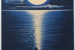 Maanedans- litografi, storrelse 70x50, pris 4000