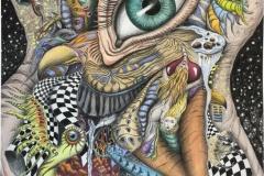 Naked eye Giclee-Akvarell (59x42 cm) kr 7000 ur