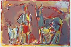 Husdyr I Litografi (38x56 cm) kr 2400 ur