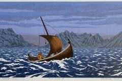 Frisk seilas III Seriegrafi 25,5x45 cm 800 ur