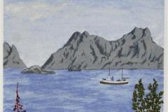 Nordlandsglimt VI Seriegrafi 45x20 cm 900 ur