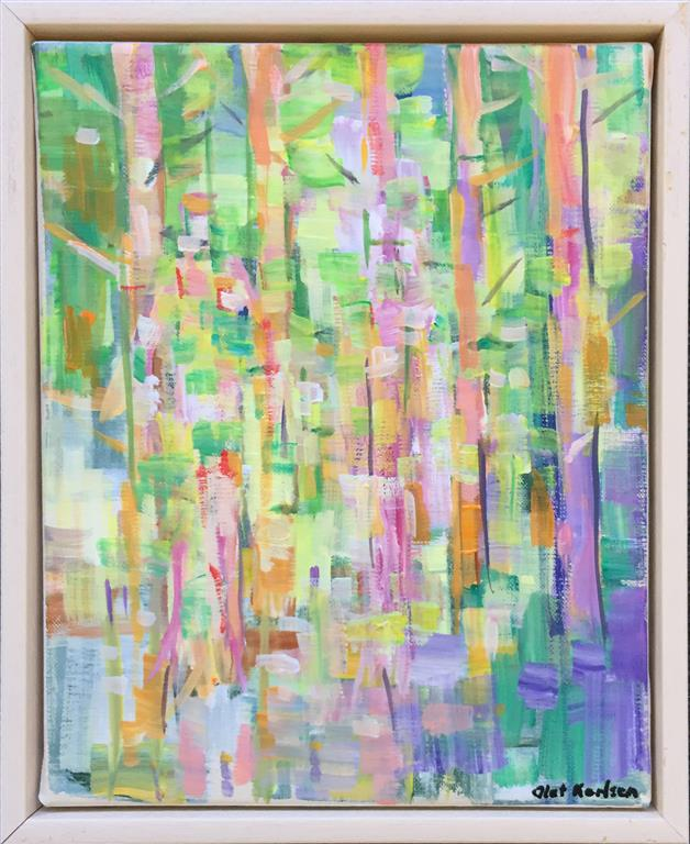 I skogen III Akrylmaleri (30x24 cm) kr 3000 mr