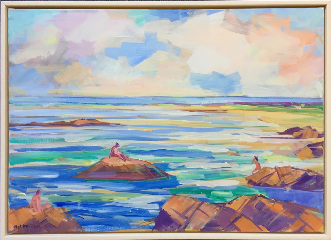 Sommerliv Akrylmaleri (50x70 cm) kr 7000 mr