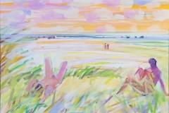 Sommerdag på stranden Akrylmaleri (50x70 cm) kr 8000 ur