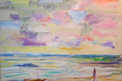 En lykkestund I Akrylmaleri 40x50 cm 4000 mr