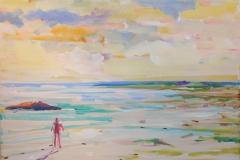 En lykkestund II Akrylmaleri 40x50 cm 4000 mr