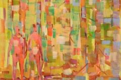 I skogen I Akrylmaleri 30x25 cm 3000 mr