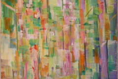 I skogen III Akrylmaleri 30x25 cm 3000 mr
