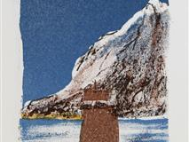 Paa heimveg Litografi 29x11 cm 1500 ur