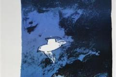 Stille ferd Litografi 40x22 cm 1600 ur