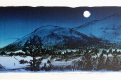 Stille kveldssang Litografi 22x61 cm 2000 ur
