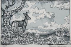 Raadyr Litografi 10x15cm 500,-kr u.r.