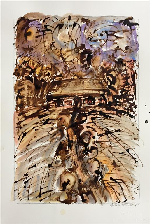 Huset i skogen Akvarell (46x31 cm) kr 6000 ur