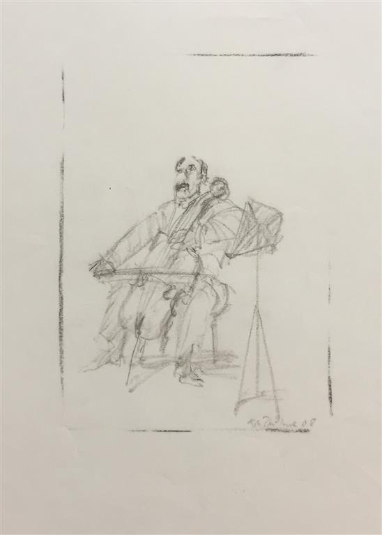 Musiker Tegning (31x22 cm) kr 2500 ur
